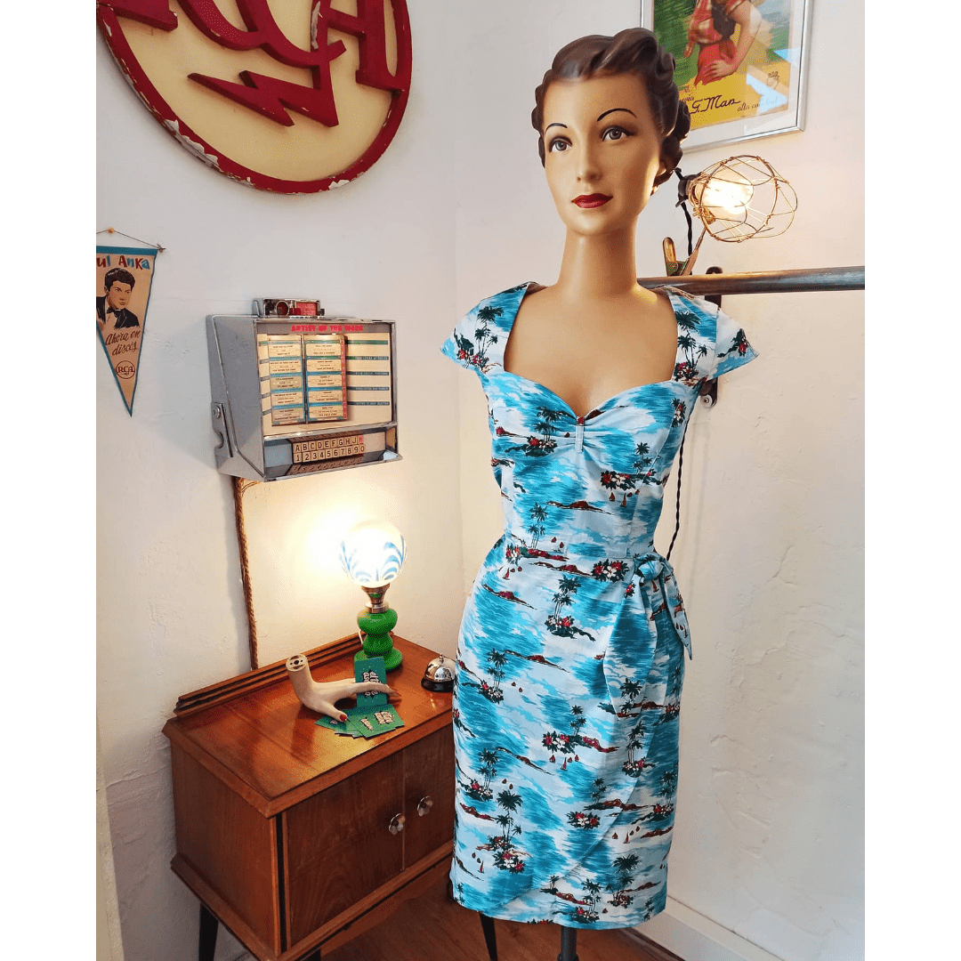 Vestido Blue Hawaii